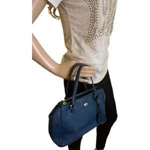 Teal / Sea Green Coach leather purse